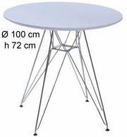 Круглый стол Тауэр хромир большой диаметром 100 см ноги металл